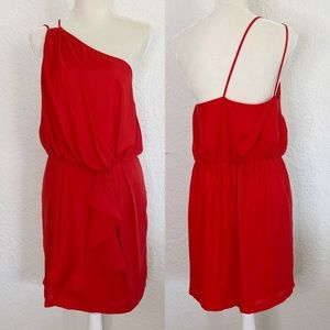 BCBGeneration One shoulder Red cocktail Dress Sz.L